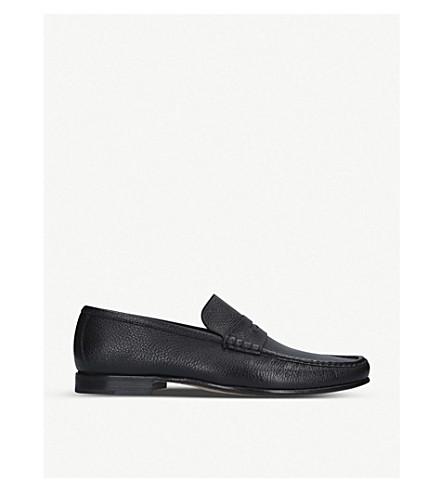 STEMAR Deerskin penny loafers (Black