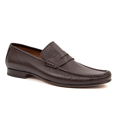 STEMAR Deerskin penny loafers (Brown