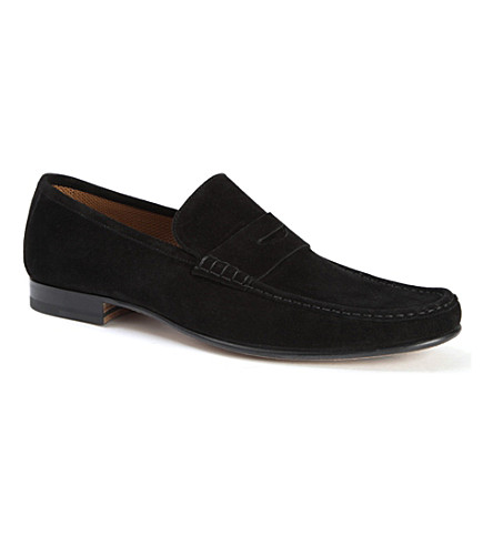 STEMAR Suede penny loafers (Black