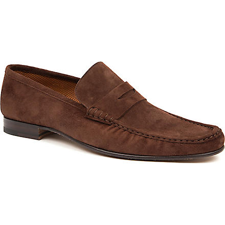 STEMAR Suede penny loafers (Brown