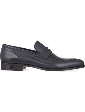 STEMAR Almond leather penny loafers