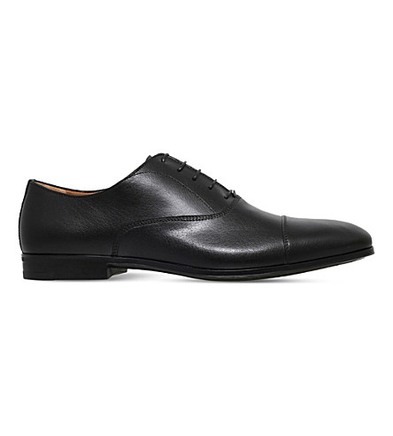 STEMAR Toecap-detail leather Oxford shoes (Black