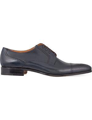STEMAR Chisel punch toe Oxford shoes
