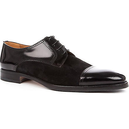 STEMAR Mix toecap Derby shoes (Black