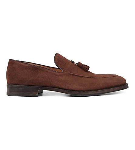 STEMAR Taselled 绒面革乐福鞋 (棕色