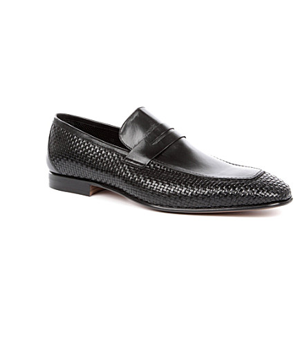 STEMAR Woven penny loafers (Black