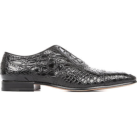 STEMAR Crocodile Oxford shoes (Black