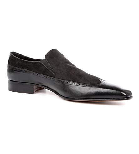 STEMAR Suede Wing Cap shoes (Black