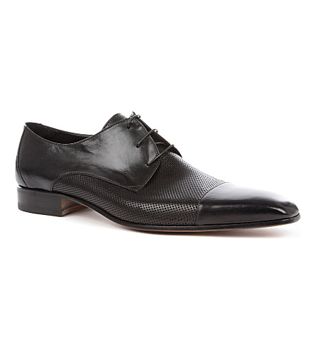 STEMAR Perforated toecap Derby shoes (Black