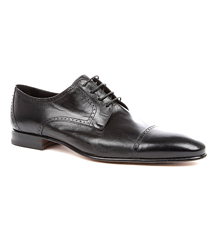 STEMAR Softy leather Derby shoes (Black