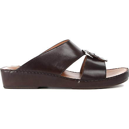 STEMAR Wedge Aquilina sandals (Brown