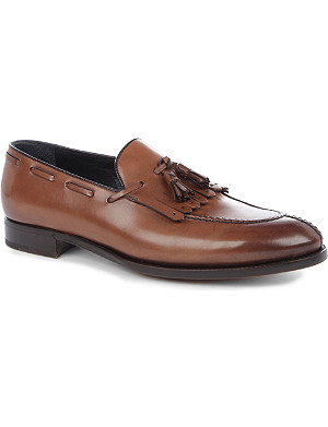 ERMENEGILDO ZEGNA Tassel fringe goodyear loafers