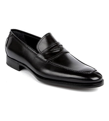 ERMENEGILDO ZEGNA Leather trim loafers (Black