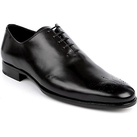 ERMENEGILDO ZEGNA Perforated-leather dress shoes (Black