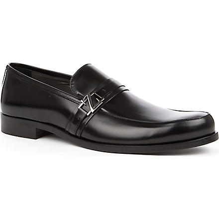 ERMENEGILDO ZEGNA Leather loafers (Black