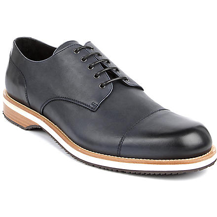 ERMENEGILDO ZEGNA Leather Derby shoes (Blue