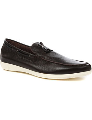 ERMENEGILDO ZEGNA Leather tassel driver shoes