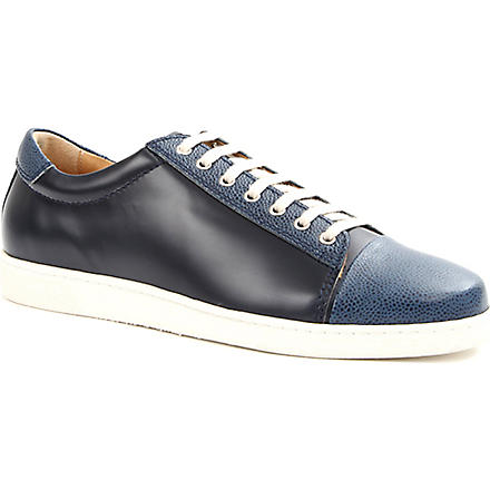 THE GENERIC MAN Academy leather trainers (Navy