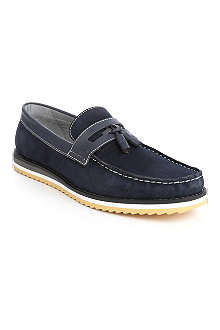 ANTHONY MILES Suede Suffolk tassel loafers