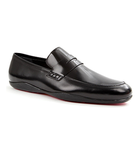 HARRYS LONDON Downing fuchsia-sole loafers (Black