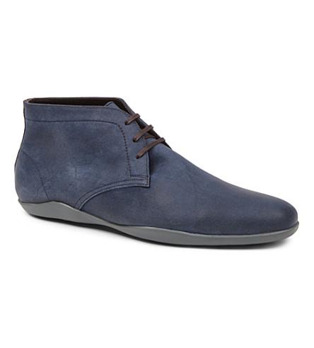 HARRYS LONDON Dwain 2 suede Chukka boots (Blue