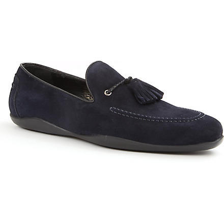 HARRYS OF LONDON Dylan suede loafers (Navy