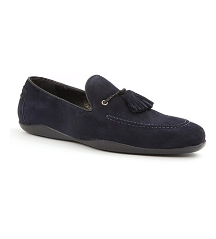 HARRYS OF LONDON Dylan suede loafers (Navy