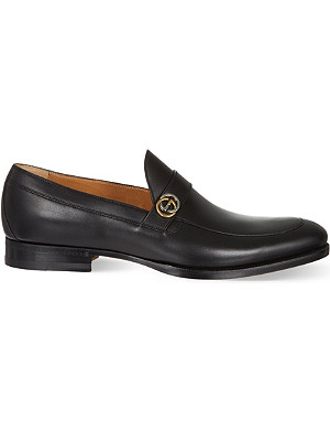 GUCCI Bouts GG trim apron loafers