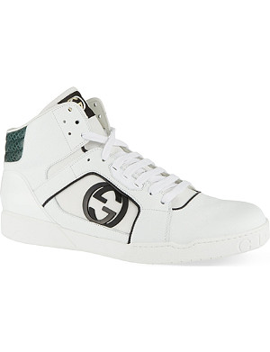 GUCCI Rebound leather trainers