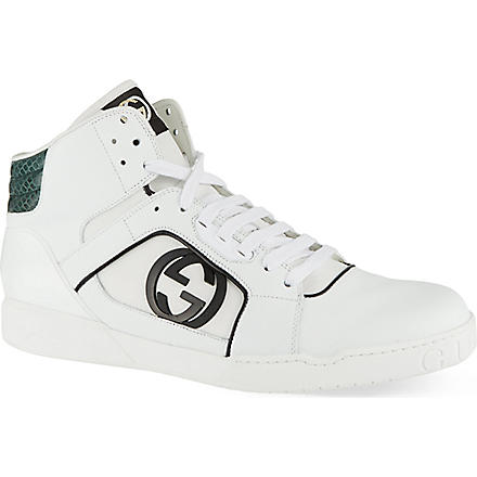 GUCCI Rebound leather trainers (White