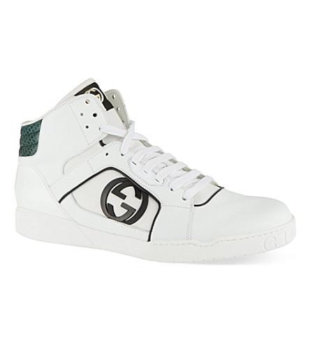 GUCCI Rebound leather trainers (White