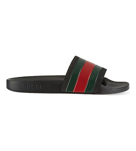 GUCCI Pursuit striped sandals (Black