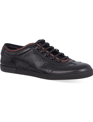 GUCCI Barcelona GG shiny trainers