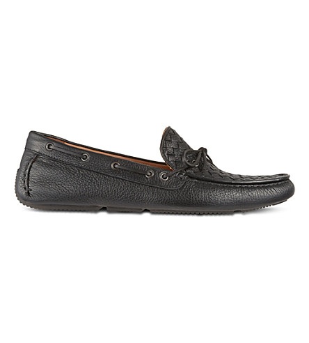 BOTTEGA VENETA Cervo leather moccasins (Black