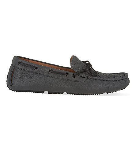 BOTTEGA VENETA Patera II Intrecciato loafers (Grey