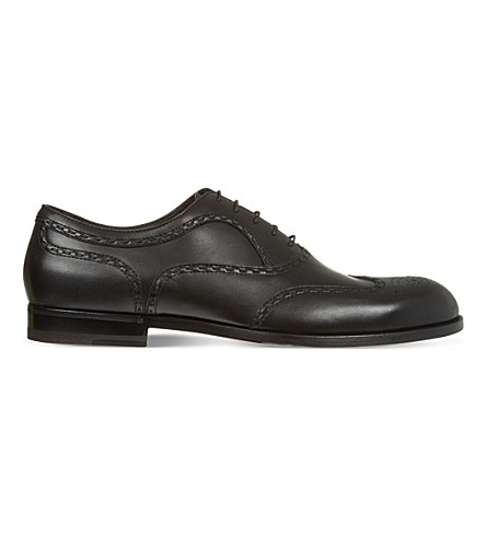 BOTTEGA VENETA York leather brogues (Black