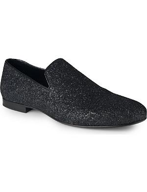 JIMMY CHOO Sloane glitter loafers