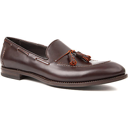 PAUL SMITH Marcello leather tassel loafers (Brown