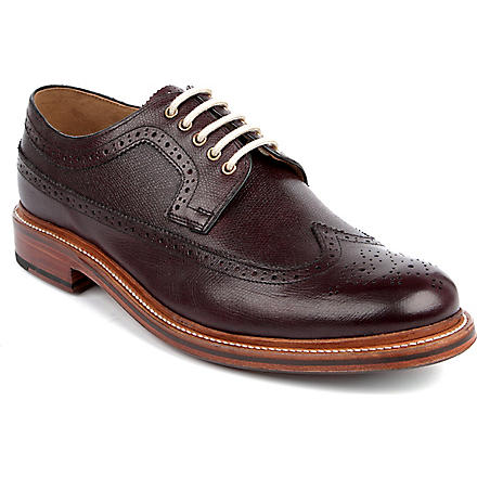 GRENSON Sid Derby shoes (Wine