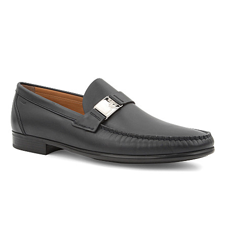 BALLY Condy leather loafers (Navy
