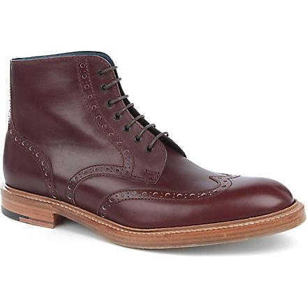 BARKER Butcher brogue boots (Wine