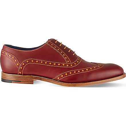 BARKER Grant wingcap derby shoes (Wine