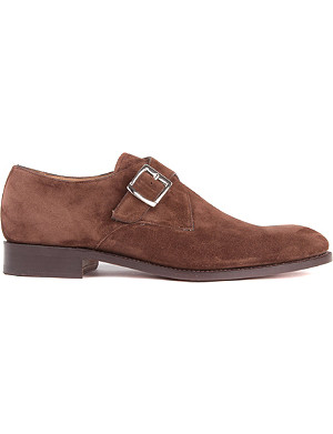 BARKER Monk suede shoes