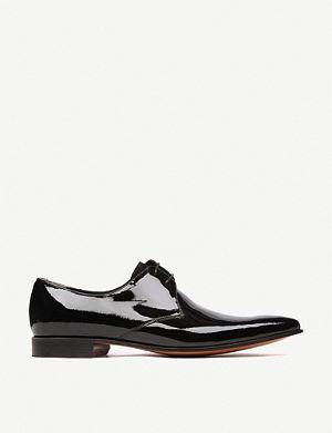 BARKER Goldington patent Derby shoes