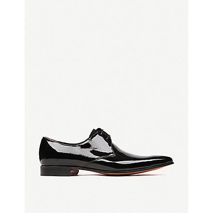 BARKER Goldington patent Derby shoes (Black