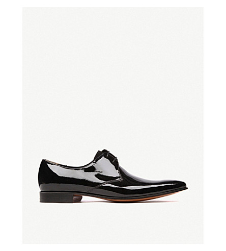 BARKER Goldington patent Derby shoes (Black