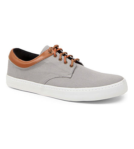 KG KURT GEIGER Witham canvas trainers (Grey