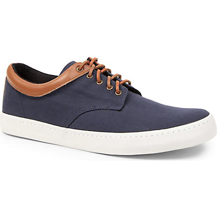 KG KURT GEIGER Witham canvas trainers (Navy