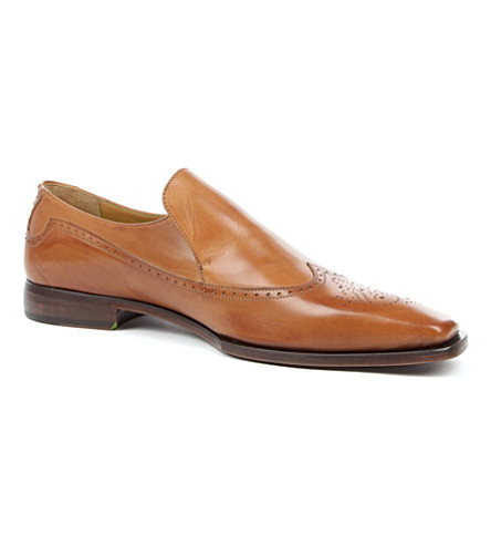 OLIVER SWEENEY Croce leather wingcap loafers (Tan