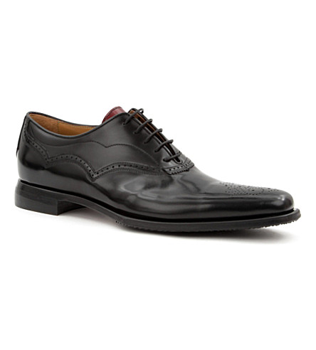 OLIVER SWEENEY Picolit punched Oxford shoes (Black